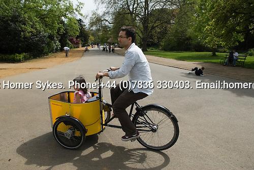 Dulwich Village, South London SE21 London UK 2008. Dulwich Park. Hire bikes.