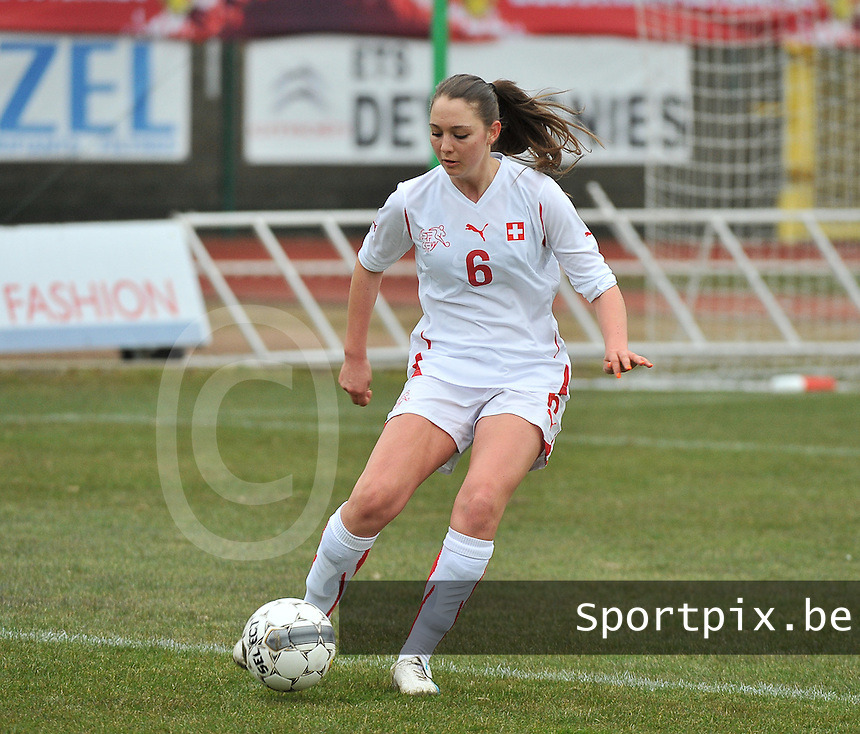 Belgium U19 - Switzerland U19 : Livia Egert.foto DAVID CATRY / Nikonpro.be