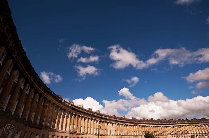 The Royal Crescent, Bath, England.