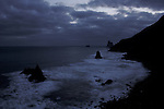 Dawn at Benijo on a cloudy morning,Tenerife, Canary Islands, Spain