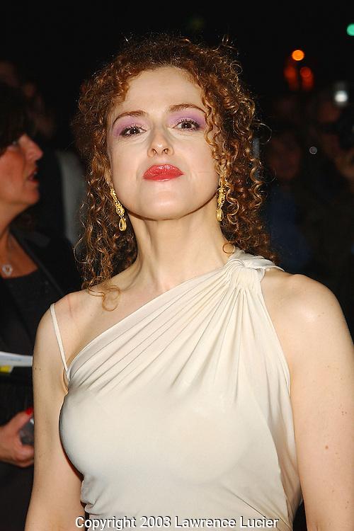 Bernadette Peters wearing Donna Karan