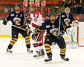 Eric Kroshus (Harvard - 10), Zack Currie (Quinnipiac - 23) - The visiting Quinnipiac University Bobcats defeated the Harvard University Crimson 3-1 on Wednesday, December 8, 2010, at Bright Hockey Center in Cambridge, Massachusetts.