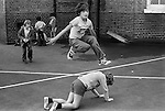 Playground games. South LOndon junior school 1970s England . UK..
