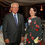 Waterbury, CT 110418MK05 Al Terzi, event emcee and Joy Savulak gathered at the annual Carolyn's Place dinner held at La Bella Vista in Waterbury. Michael Kabelka / Republican-American
