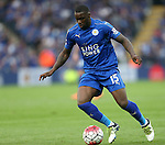 Leicester's Jeffrey Schlupp in action during the Barclays Premier League match at the King Power Stadium.  Photo credit should read: David Klein/Sportimage