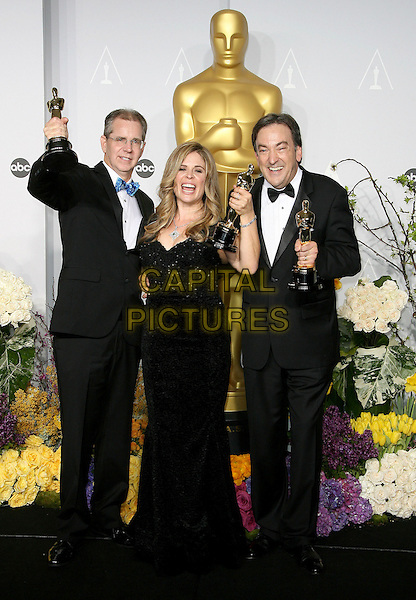 02 March 2014 - Hollywood, California - Peter Del Vecho, Jennifer Lee, Chris Buck. 86th Annual Academy Awards held at the Dolby Theatre at Hollywood &amp; Highland Center. <br /> CAP/ADM<br /> &copy;AdMedia/Capital Pictures