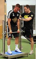 Pictured: Franck Tabanou Tuesday 30 June 2015<br /> Re: Pre-season assessment of Swansea City FC players on the grounds of Swansea University, south Wales, UK