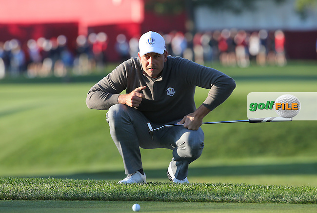 Henrik Stenson (Team Europe) putting on the second during the Saturday Morning Foursomes, at the 41st Ryder Cup 2016, at Hazeltine National Golf Club, Minnesota, USA.  01View of the 10th2016. Picture: David Lloyd | Golffile.