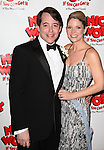 Matthew Broderick & Kelli O'Hara.attending the Broadway Opening Night After Party for  'Nice Work If You Can Get It' at the Mariott Marquis  on 4/24/2012 in New York City.