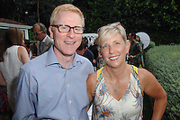 Scott Ehlers, Trish Ehlers==<br /> LAXART 5th Annual Garden Party Presented by Tory Burch==<br /> Private Residence, Beverly Hills, CA==<br /> August 3, 2014==<br /> ©LAXART==<br /> Photo: DAVID CROTTY/Laxart.com==