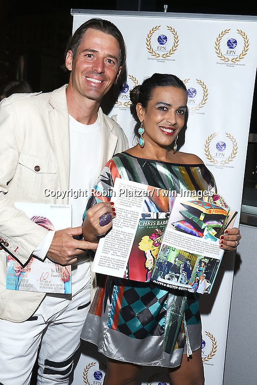 Thomas Grassberger &amp; wife Chris Barreto attend the &quot;EPN Spotlight Magazine&quot;  launch party on June 10, 2016 at the Renaissance NY Hotel in New York, New York, USA. Dalal Bruchmann is the cover model.<br /> <br /> photo by Robin Platzer/Twin Images<br />  <br /> phone number 212-935-0770