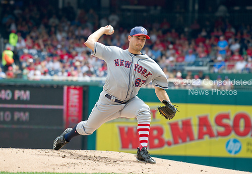 New York Mets starting pitcher Seth Lugo (67) works in the first inning against the Washington Nationals at Nationals Park in Washington, D.C. on Tuesday, July 4, 2017.  <br /> Credit: Ron Sachs / CNP<br /> (RESTRICTION: NO New York or New Jersey Newspapers or newspapers within a 75 mile radius of New York City)
