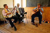 A band performs at the schoolhouse during Bannack Days in Bannack, Montana.