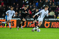 George Byers of Swansea City in action during the Sky Bet Championship match between Swansea City and Charlton Athletic at the Liberty Stadium in Swansea, Wales, UK.  Thursday 02 January 2020