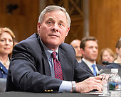 United States Senator Richard Burr (Republican of North Carolina), Chairman, US Senate Committee on Intelligence, endorses the nomination of CIA Director Mike Pompeo to be US Secretary of State before the US Senate Committee on Foreign Relations on Capitol Hill in Washington, DC on Thursday, April 12, 2018.<br /> Credit: Ron Sachs / CNP