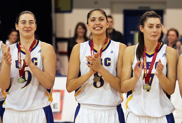 Women's basketball, UBC vs. Saskatchewan at UBC in Vancouver, British Columbia on March 7, 2015. (BEN NELMS/EPA)