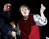 King Lear <br /> by William Shakespeare<br /> directed by Deborah Warner <br /> at the Old Vic Theatre, London, Great Britain <br /> 2nd November 2016 <br /> <br /> Glenda Jackson as King Lear <br /> <br /> Sargon Yelda as Kent <br /> <br /> <br /> <br /> Photograph by Elliott Franks <br /> Image licensed to Elliott Franks Photography Services