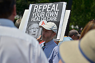 June 28, 2012  (Washington, DC)  Protesters outside of the U.S. Supreme Court after the Justices ruled on health care.   (Photo by Don Baxter/Media Images International)