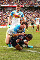Solomone Kata. Vodafone Warriors v Gold Coast Titans, NRL Rugby League round 2, Mt Smart Stadium, Auckland. 17 March 2018. Copyright Image: Renee McKay / www.photosport.nz