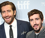 Jake Gyllenhaal and Jeff Bauman attend the 'Stronger' photo call during the 2017 Toronto International Film Festival at Tiff Bell Lightbox on September 9, 2017 in Toronto, Canada.