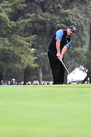 Phil Mickelson (USA) chips on to 18 during round 3 of the World Golf Championships, Mexico, Club De Golf Chapultepec, Mexico City, Mexico. 3/4/2017.<br /> Picture: Golffile | Ken Murray<br /> <br /> <br /> All photo usage must carry mandatory copyright credit (&copy; Golffile | Ken Murray)