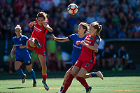 Seattle, WA - Saturday, August 26th, 2017: Katherine Reynolds during a regular season National Women's Soccer League (NWSL) match between the Seattle Reign FC and the Portland Thorns FC at Memorial Stadium.