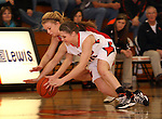 SIOUX FALLS, SD: DECEMBER 20: Kelsey Knecht #30 from Washington and Whitlee Larson #4 from Yankton dive for a loose ball in the the first half of their game Friday night at Washington. (photo by Dave Eggen/Inertia)