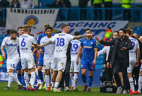 Leeds United first team coach Carlos Corberan appeals for calm as Pontus Jansson has words with Bolton Wanderers manager Phil Parkinson<br /> <br /> Photographer Alex Dodd/CameraSport<br /> <br /> The EFL Sky Bet Championship - Leeds United v Bolton Wanderers - Saturday 23rd February 2019 - Elland Road - Leeds<br /> <br /> World Copyright © 2019 CameraSport. All rights reserved. 43 Linden Ave. Countesthorpe. Leicester. England. LE8 5PG - Tel: +44 (0) 116 277 4147 - admin@camerasport.com - www.camerasport.com