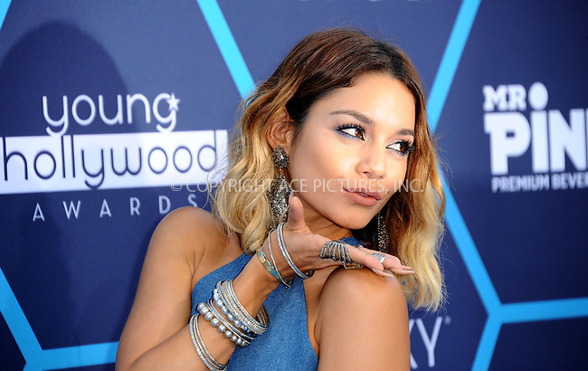 ACEPIXS.COM<br /> <br /> July 27 2014, LA<br /> <br /> Actress Vanessa Hudgens arriving at the 2014 Young Hollywood Awards at The Wiltern on July 27, 2014 in Los Angeles, California. <br /> <br /> By Line: Peter West/ACE Pictures<br /> <br /> ACE Pictures, Inc.<br /> www.acepixs.com<br /> Email: info@acepixs.com<br /> Tel: 646 769 0430