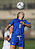 Meghan Sparacio #8 of North Babylon goes up for a header during a Suffolk County Class AA varsity girls soccer first round playoff game against host East Islip High School on Monday, Oct. 24, 2016. East Islip won by a score of 1-0.