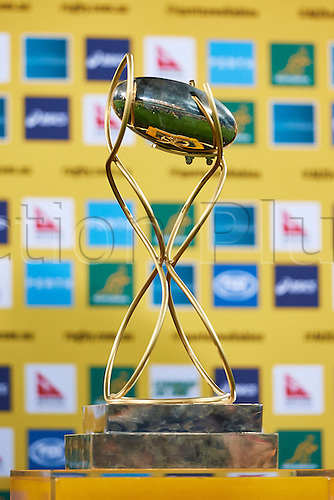 17.09.2016. Perth, Australia.  The Puma Trophy waits the winner during the Rugby Championship test match between the Australian Qantas Wallabies and Argentina's Los Pumas from NIB Stadium - Saturday 17th September 2016 in Perth, Australia.