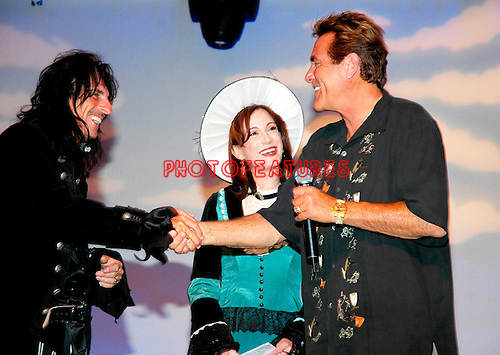 Alice Cooper and Sheryl Cooper and Chuck Woolery