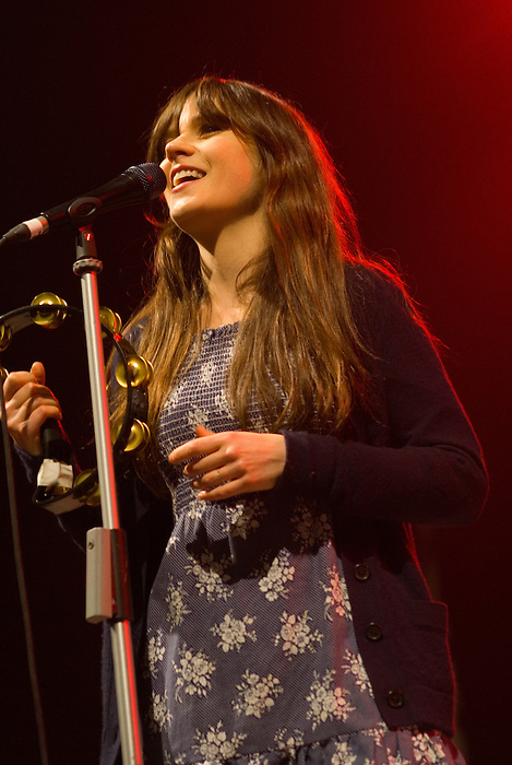 She & Him [Zooey Deschanel pictured] play All Tomorrow's Parties curated by Matt Groening ~ Minehead May 8 2010.