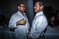 Ricardo Bours Castelo y Manuel Ignacio Acosta alcalde de Hermosillo. Maloro<br /> <br /> Jose Antonio Meade Kuribre&ntilde;a precandidato a la presidencia de la republica por el Partido Revolucionario Institucional ,PRI, asisti&oacute; al Quinto Foro Puntos de Encuentro: M&eacute;xico Potencia Sustentable donde se le vio acompa&ntilde;ado de Manlio Fabio Beltrones Rivera . Sal&oacute;n Parten&oacute;n del Hotel Santorian de Hermosillo Sonora a 26 enero 2018.
