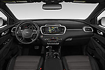 Stock photo of straight dashboard view of a 2019 KIA Sorento SX Limited 5 Door SUV