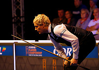 25th February 2020; Waterfront, Southport, Merseyside, England; World Snooker Championship, Coral Players Championship; Neil Robertson (AUS) lines up his shot during his first round match against Joe Perry (ENG)