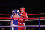 """Michael Balfe """"Count from the Mount"""" (blue) sponsored by Orange Skip Hire and Tony """"The Canvas"""" Carley (red) sponsored by Tom Fox Motors taking part in Drogheda and District, """"Battle of the Barbican"""" White Collar Boxing Event in aid of the Des Smyth Foundation...(Photo credit should read Jenny Matthews www.newsfile.ie)....This Picture has been sent you under the conditions enclosed by:.Newsfile Ltd..The Studio,.Millmount Abbey,.Drogheda,.Co Meath..Ireland..Tel: +353(0)41-9871240.Fax: +353(0)41-9871260.GSM: +353(0)86-2500958.email: pictures@newsfile.ie.www.newsfile.ie."""