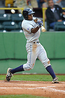 Wynton Bernard #36 of the West Michigan Whitecaps swings against the Clinton LumberKings at Ashford University Field on July  25, 2014 in Clinton, Iowa. The Whitecaps won 9-0.   (Dennis Hubbard/Four Seam Images)