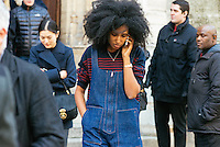 Julia Sarr Jamois at Paris Fashion Week (Photo by Hunter Abrams/Guest of a Guest)
