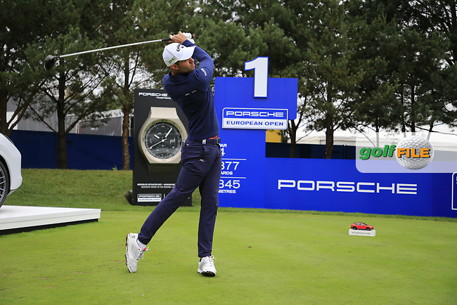 Bernd Ritthammer (GER) during the Pro-Am at the  Porsche European Open, Green Eagles Golf Club, Luhdorf, Winsen, Germany. 04/09/2019.<br /> Picture Fran Caffrey / Golffile.ie<br /> <br /> All photo usage must carry mandatory copyright credit (© Golffile | Fran Caffrey)