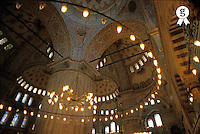 Turkey, Istanbul, Blue Mosque interior (Licence this image exclusively with Getty: http://www.gettyimages.com/detail/sb10066434p-001 )