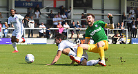 Preston North End's Tom Barkhuizen is fouled in the penalty area<br /> <br /> Photographer Dave Howarth/CameraSport<br /> <br /> Football Pre-Season Friendly - AFC Flyde v Preston North End - Saturday July 13th 2019 - Mill Farm - Flyde<br /> <br /> World Copyright © 2019 CameraSport. All rights reserved. 43 Linden Ave. Countesthorpe. Leicester. England. LE8 5PG - Tel: +44 (0) 116 277 4147 - admin@camerasport.com - www.camerasport.com