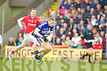 Peter Crowley Kerry in action against Keith Higgins Mayo in the National Football League in Austin Stack Park on Sunday..