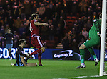 Cristhian Stuani of Middlesbrough scoring in the first minute of the game - Sky Bet Championship - Middlesbrough vs Sheffield Wednesday - Riverside Stadium - Middlesbrough - England - 28th of December 2015 - Picture Jamie Tyerman/Sportimage