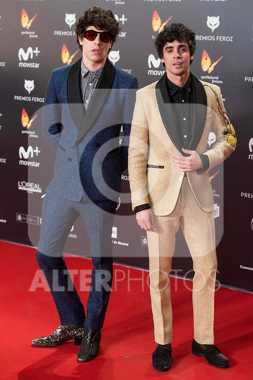 Javier Calvo and Javier Ambrossi attends red carpet of Feroz Awards 2018 at Magarinos Complex in Madrid, Spain. January 22, 2018. (ALTERPHOTOS/Borja B.Hojas)