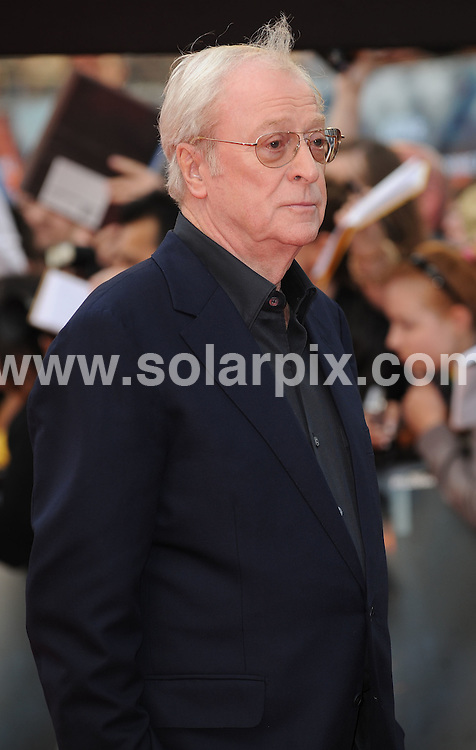 **ALL ROUND PICTURES FROM SOLARPIX.COM**.**WORLDWIDE SYNDICATION RIGHTS**.The Red carpet arrivals at the European Premiere of The Dark Knight Held at the Odeon in Leicester Square in London. ..This pic: Michael Caine...JOB REF: 6887-SSD DATE: 21_07_08.**MUST CREDIT SOLARPIX.COM OR DOUBLE FEE WILL BE CHARGED* *UNDER NO CIRCUMSTANCES IS THIS IMAGE TO BE REPRODUCED FOR ANY ONLINE EDITION WITHOUT PRIOR PERMISSION*