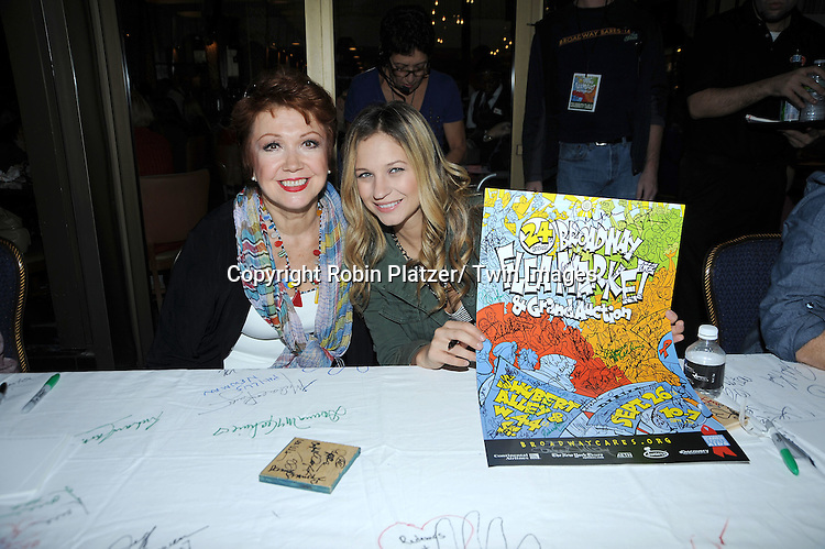 Donna McKechnie and Vanessa Ray posing for photographers at The Broadway Cares/ Equity Fights Aids 24th Annual Broadway Flea Market & Grand Auction on September 26, 2010 in Shubert Alley..photo by Robin Platzer/ Twin Images.212-935-0770