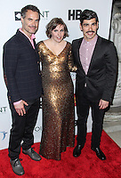 NEW YORK CITY, NY, USA - APRIL 07: Murray Bartlett, Lena Dunham, Raul Castillo at the Point Honors New York Gala 2014 held at the New York Public Library on April 7, 2014 in New York City, New York, United States. (Photo by Jeffery Duran/Celebrity Monitor)
