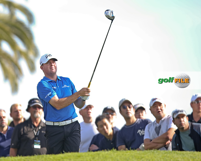16 FEB 13 Robert garrigus on 3 during Sunday's Final Round of The Northern Trust Open at Riviera Country Club in Pacific Palisades,California. photo credit :  (kenneth e. dennis/kendennisphoto.com)