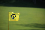 4th June 2017, Dublin, OH, USA;  The flag on the 9th hole during the final round of The Memorial Tournament  at the Muirfield Village Golf Club in Dublin, OH.